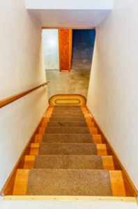 Stairway leading to the basement in home on NE 35th in Portland
