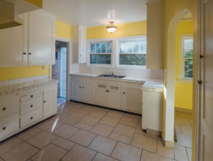 Sunny kitchen of home on NE Burnside in Portland