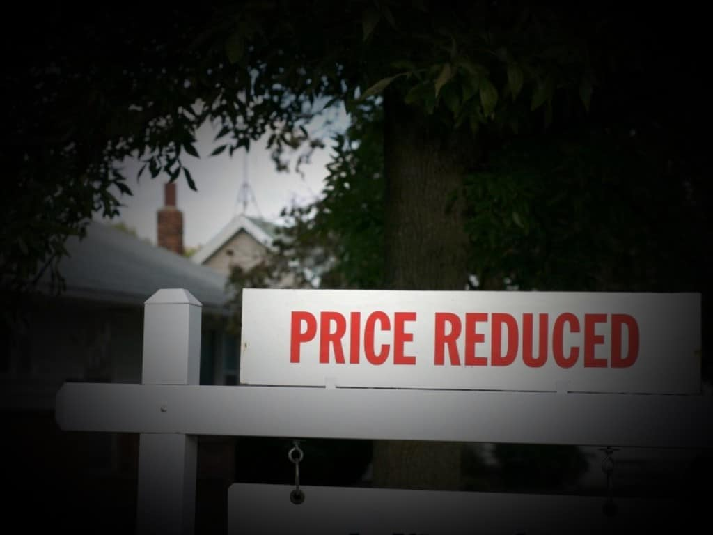 price reduced sign